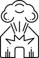 linje ikon för explosion vektor