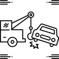 Liniensymbol für das Abschleppen von Autos vektor