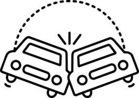 linje ikon för kollision vektor