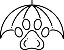 linje ikon för husdjur försäkring vektor