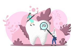 tandvårdskontor platt färgillustration