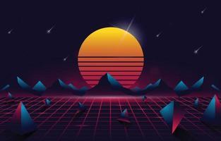 abstrakter retro futuristischer Hintergrund vektor