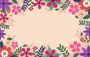 Frühling bunter Blumenhintergrund vektor