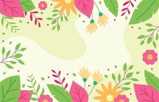 bunter Frühlingsblumenhintergrund vektor