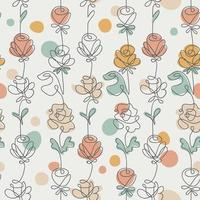 Rosen umreißen nahtloses Muster vektor