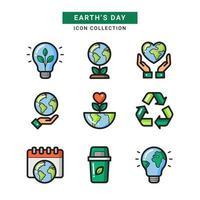 Der Tag der Erde heilt unseren Planeten vektor