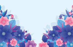 bunter Blumenhintergrund im Farbverlaufsstil vektor