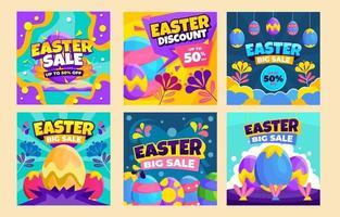 Happy Easter Social Media Post vektor