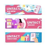 untact teknik banner vektor