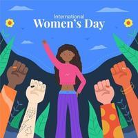 die Aktivistin des internationalen Frauentags vektor
