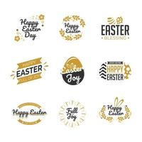 Happy Easter Label Template Set