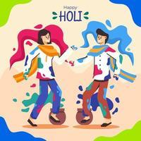 lycklig Holi festival fest vektor
