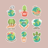 Schützen Sie die Umwelt während des Tages der Mutter Erde vektor