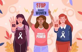 Stoppen Sie das Konzept der Gewalt gegen Frauen vektor
