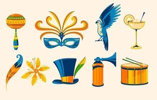 Sammlung der brasilianischen Festivalikone vektor