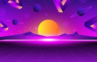 klassischer Retro-Futurismus-Hintergrund vektor