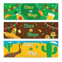cinco de mayo mexico festival banner vektor