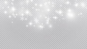 weißer Schnee fliegt auf einem Hintergrund. Weihnachtsschneeflocken. Winter Schneesturm Hintergrund Illustration. vektor