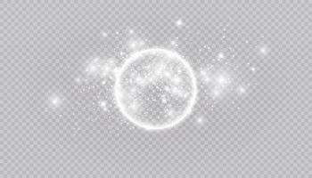 runder glänzender Rahmenhintergrund mit Lichtern. abstrakter Luxuslichtring. Vektorillustration
