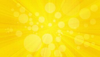 gelber Sanny Strahlenhintergrund. funkelnde magische Staubpartikel. Vektorillustration.