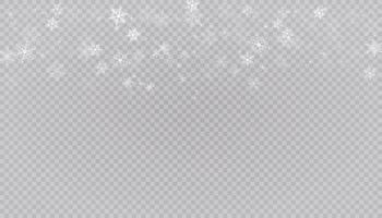 vit snö flyger bakgrund. jul snöflingor. vinter snöstorm bakgrundsillustration.
