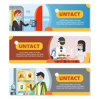 Banner der untaktigen und kontaktlosen Technologie vektor