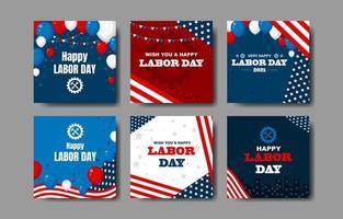 Happy Labour Day Karte vektor