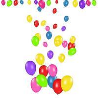 Farbzusammensetzung von Vektor realistischen Ballons isoliert. Luftballons isoliert. für Geburtstagsgrußkarten oder andere Designs