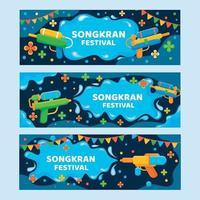 Songkran firande festival banner mall vektor