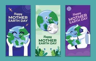 Mutter Erde Tag Banner Set vektor