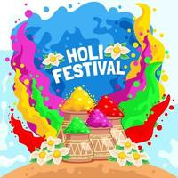 bunter holi Festivalhintergrund vektor