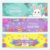 glad påsk banner uppsättning