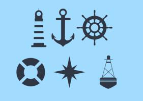 Symboler av en kryssare vektor