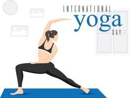 flicka som tränar yoga hemma