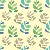blad på stammen sömlösa mönster illustration vektor