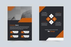 kreativt företag a4 flygblad vektor