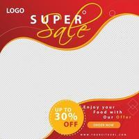 mode försäljning banner för sociala medier post mall och webbannonsering