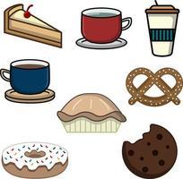 süße Getränke und Snacks perfekt für die Café-Industrie vektor