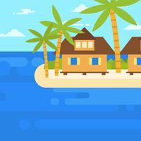 Strandurlaubsort-Vektor-Illustration vektor