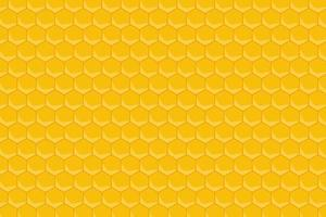 gul honungskaka mönster bakgrund vektor