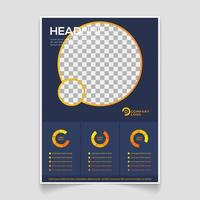 enkel broschyrmall med minimalistisk stil vektor