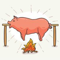 Schweinebraten-Vektor vektor