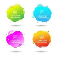 Sammlung von flüssigen Farbhintergründen vektor