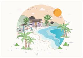 Strandurlaubsort-Illustration Vol. 3 Vektor