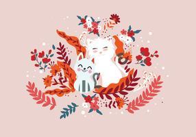 Valpar och kattungar Super söt vektor
