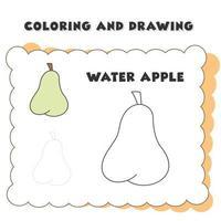färgad teckning av äpplen. vektor