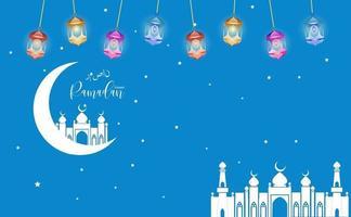 eid mubarak hälsning ramadan kareem vektor som önskar islamisk festival för banner, affisch, bakgrund
