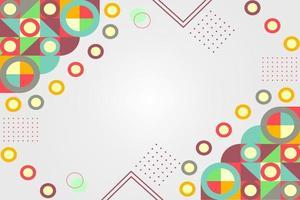 färgglad retro geometrisk bakgrund snygg design vektor