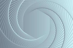 abstrakter grauer Sechseckspiralhintergrund vektor