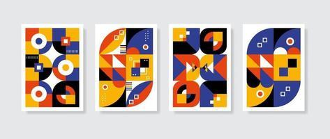 Poster postmodern inspirierte Kunstwerke von abstrakten Vektorsymbolen mit kühnen geometrischen Formen, nützlich für Webhintergrund, Plakatkunstdesign, Titelseite des Magazins, Hi-Tech-Druck, Tapete, Titelbild. vektor